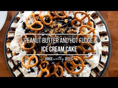 Peanut Butter and Hot Fudge Oreo Ice Cream Cake