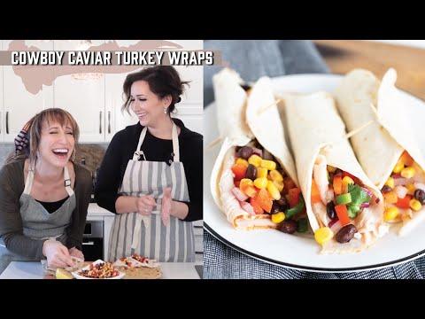 Cowboy Caviar + Turkey Wraps