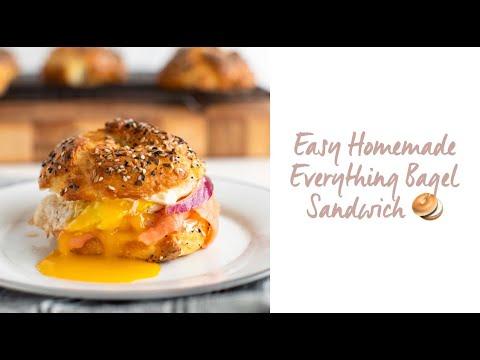 Easy Everything Bagel Sandwich