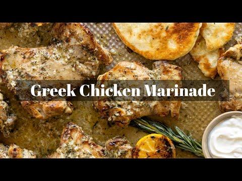 Greek Chicken Marinade Video