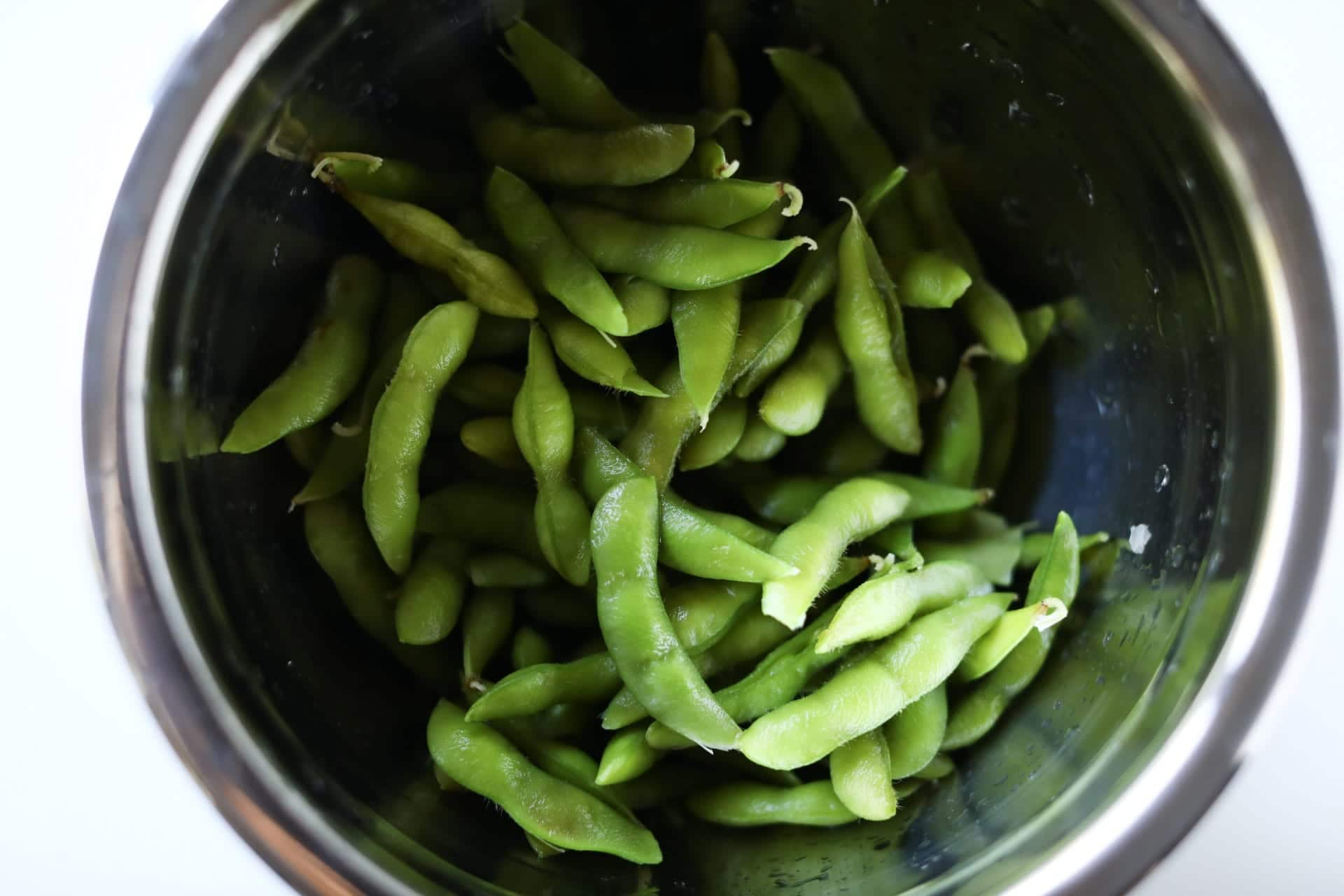 What edamame looks like after boiling it/how to cook edamame