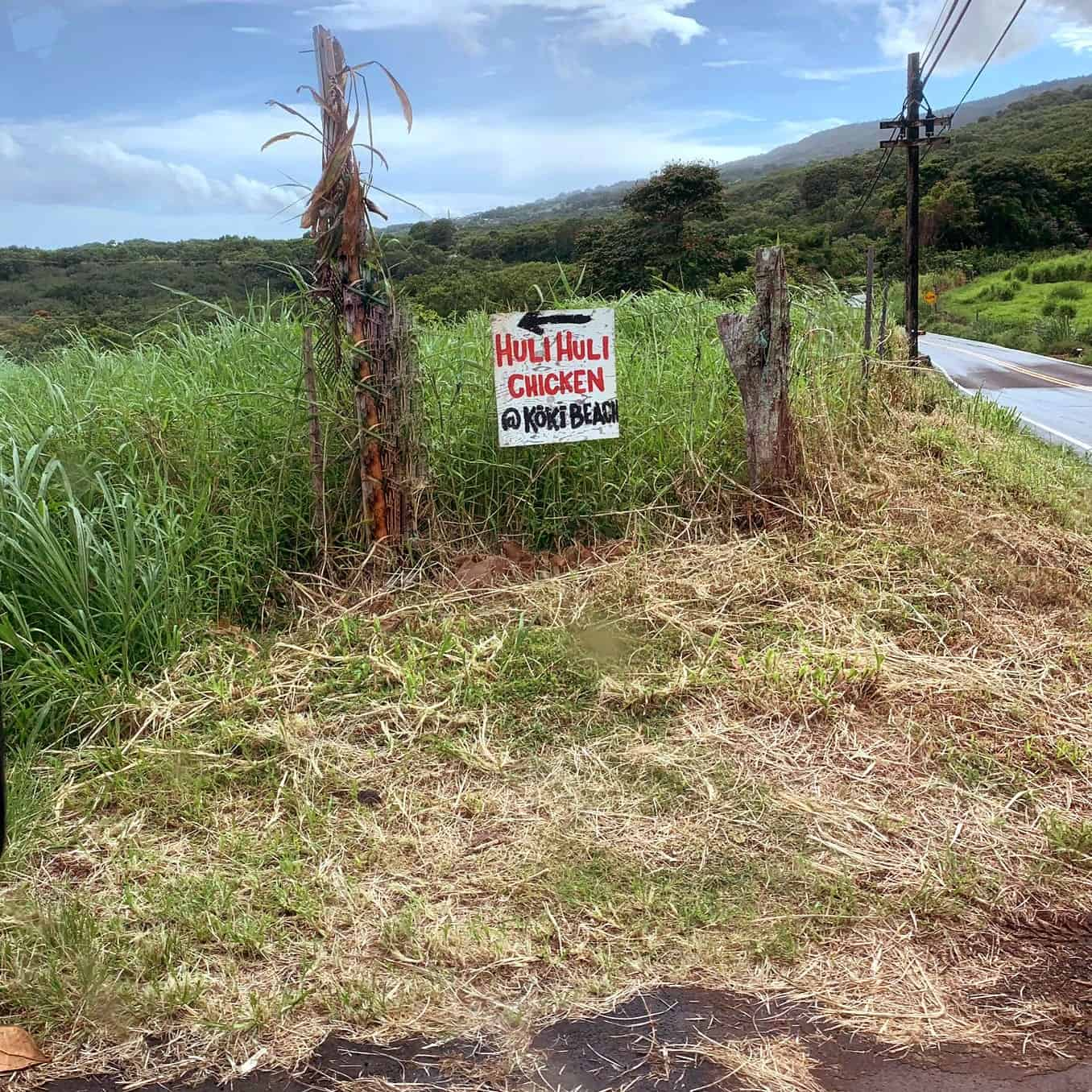 incredible roadside Huli Huli Chicken stand in Maui!