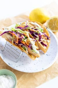BEST Easy Fish Tacos & Slaw