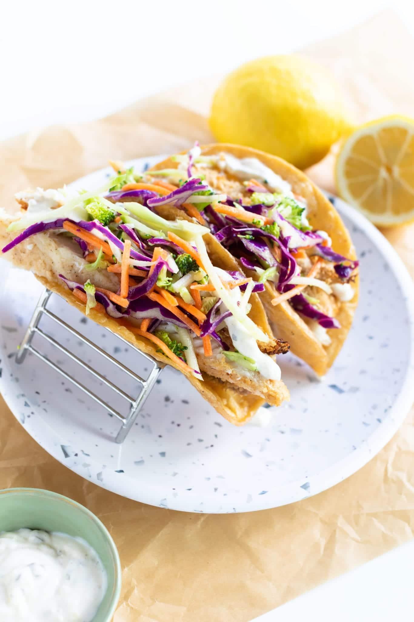 BEST Easy Fish Tacos & Slaw