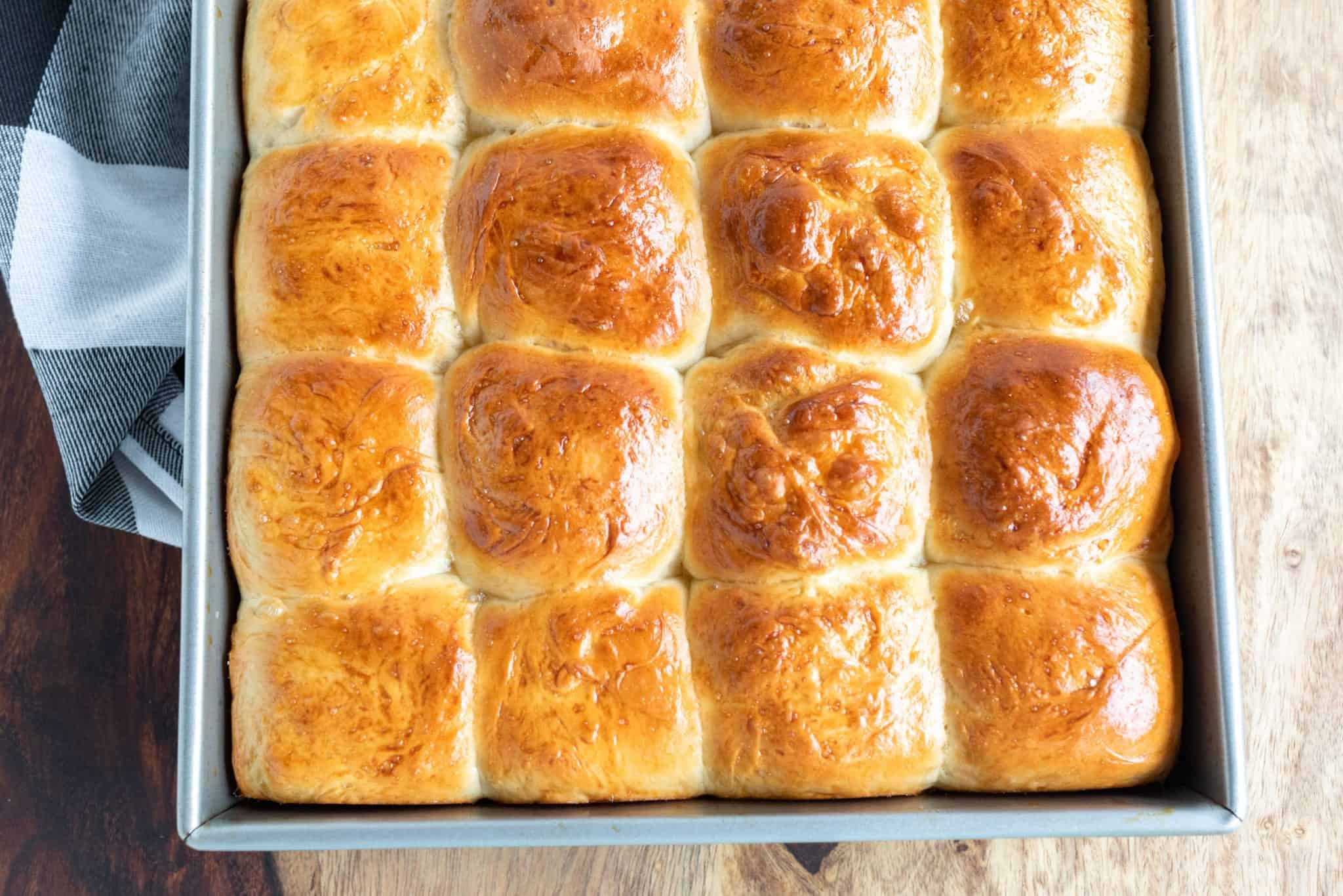 Hawaiian Sweet Rolls fresh out of the oven baked until golden brown