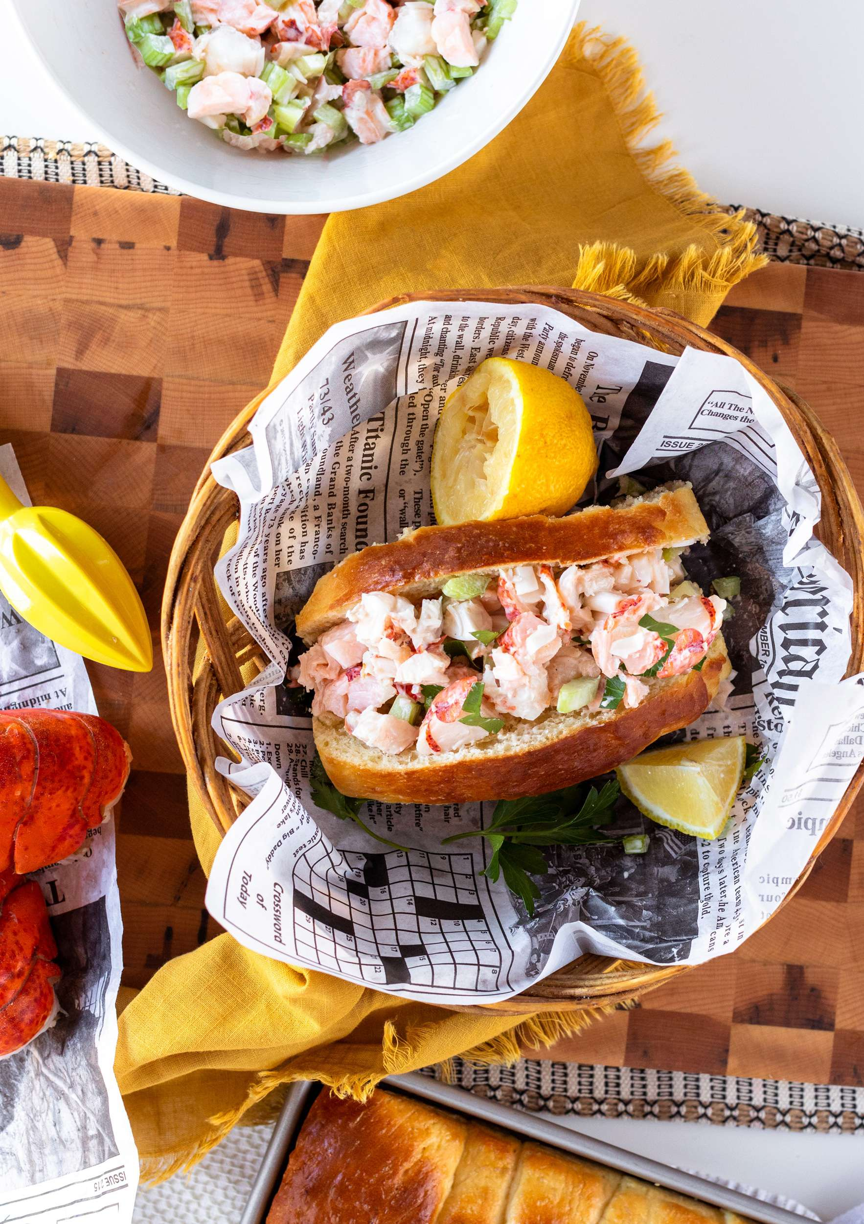 Maine Lobster Rolls with homemade New England Style Rolls