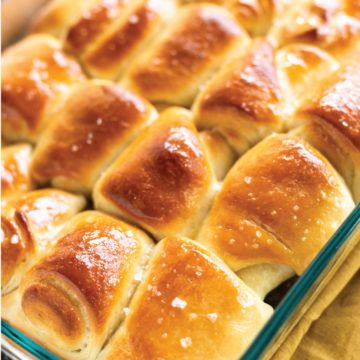 salted honey butter rolls fresh from the oven