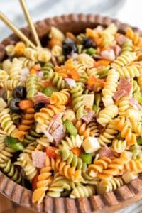 Antipasto Pasta Salad and Italian Vinaigrette Dressing