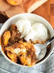 Buttermilk Biscuit Peach Cobbler