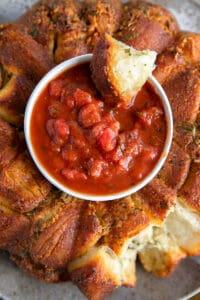 Garlic Parmesan Monkey Bread with Marinara