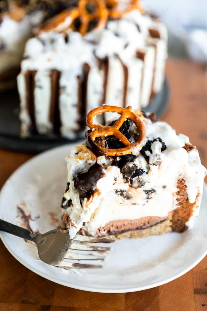 Peanut Butter and Hot Fudge Ice Cream Cake